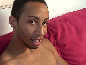 Enrique and Santae are gay fellows enjoying a mutual masturbation