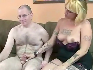 Sexy tattooed milf Lexi loves to suck cock so today she hooks up with Paul