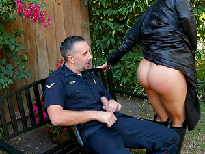 Romi Rain is a busty chick who wants to feel a policeman's cock