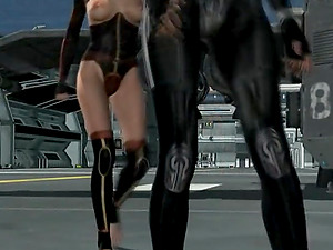 Two hot lesbians from a space ship are having fun