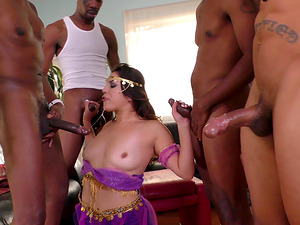 Monica Sage in her unforgettable gangbang experience with coal bods