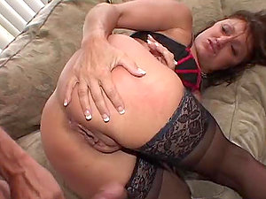 Amazing Blow-job and Hard-core Activity with Cougar in Underwear Jillian Foxxx