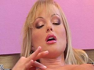 Voluptuous Blonde Beauty Silvia Saint Masturbates in Sexy Underwear