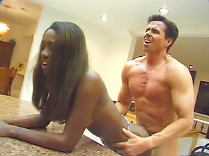 After Tonguing Peter North's Culo Naomi B is Ready for Interracial Hump
