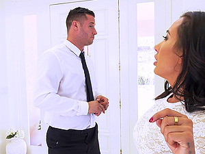 Fake-titted hot Amia Miley fucked hard in front of her husband