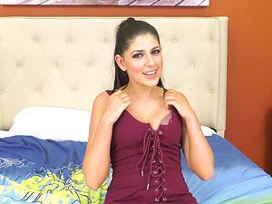 Small-titted brunette Miranda Miller having her copher banged