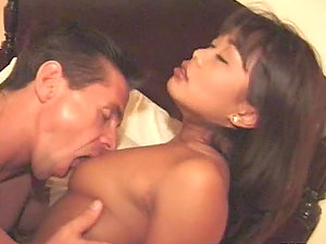 Leanni Lei the sexy Asian stunner gets fucked on a sofa