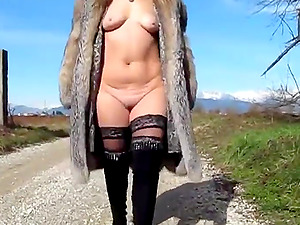 Hot Italian exhibitionist milf