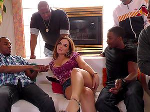 Gangbanging a salacious dick worshiper called Natasha Nice
