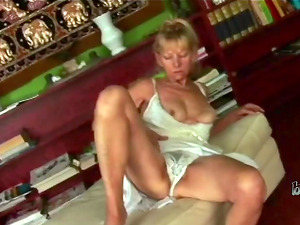 Seductive old whore is a lonely librarian who has only seen cocks in books