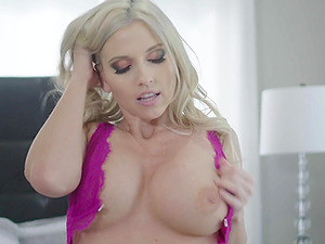 Lovely blonde Christie Stevens wakes up to ride a long shaft
