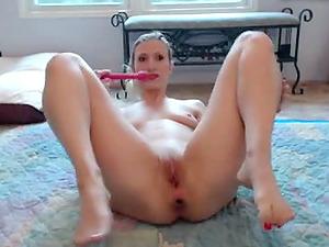 German pale amateur masturbating on webcam