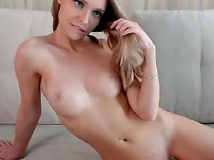 Amazing blonde slut with big tits teases while streaming on live webcam
