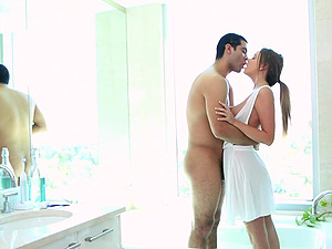 Desirable Alexis Adams likes to play with a dick more than anything