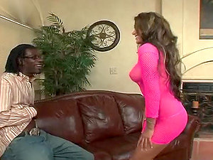 Nasty Cougar Devouring A Big black cock With Her Donk.