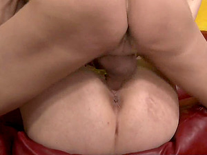 This cute brunette whore get her pussy roughed
