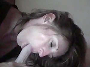Wife blowjob with prostate stimulation and cum in mouth