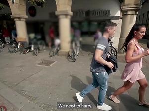 Random black babe fucks a stranger