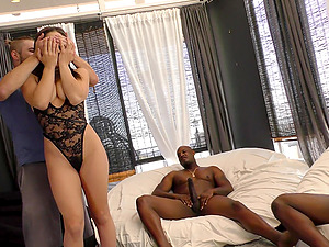 Abella Danger knows how to satisfy two black dicks at once