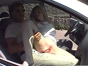 Filthy Kelly Stafford gets butt fucked in the car