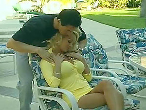 Blonde Harlot With Big Tits Gets Screwed.