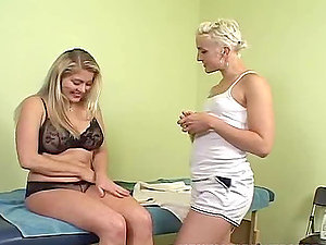 Hot and kinky lesbos getting it on right here