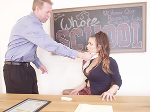 Scarlet De Sade gets her cunt filled with a big load of cock