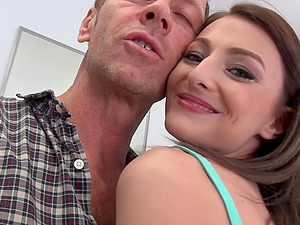 Stunning Katy Rose likes to bang with two guys at the same time