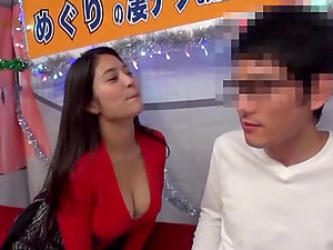 Nasty Meguri gets talked into sucking every inch of a hard cock