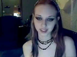 Crazy Emo babe with natural tits need attention