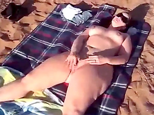 Masturbating for her husband and a perverted stranger