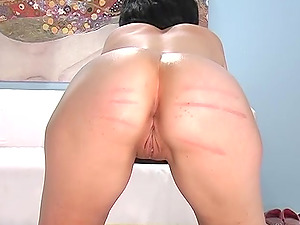 Two gorgeous babes get their butts pleased with long sticks
