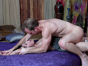 Awesome Penelope Reed gets her hairy pussy fucked by a friend