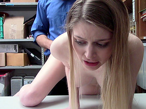 Nadya Nabakova has to fuck with a security guard in the office