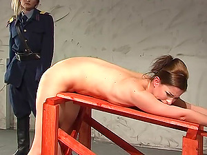 Hitting a naughty babe with a stick makes this mistress happy