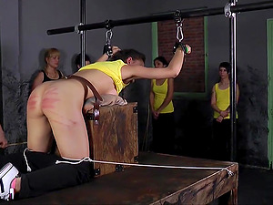 One of the things a brunette girl likes the most is getting punished