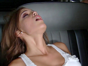 Nasty Melanie Rios likes to fuck with a friend in the car