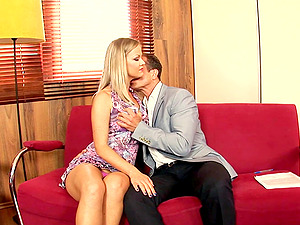 Getting pounded on the couch pleases Sunny Diamond the most