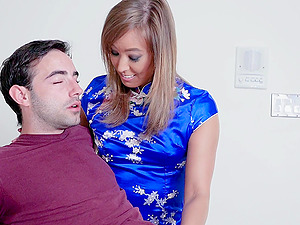 Slim girl Christy love needs to moan while he fucks her roughly