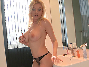 Skilled blonde Donna Bell rides a cock like her life depends on it