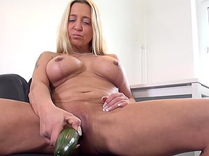 Masturbating with a cucumber is enough to please Fanny Hill