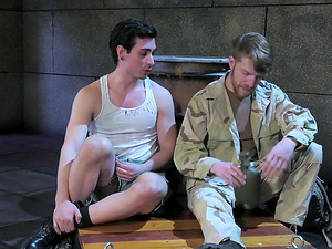 Military gay men fist each others asses and suck cocks