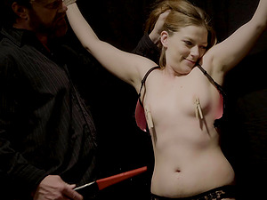 He loves to tie her up and cover her body in clamps