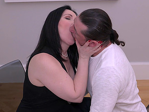 Mature Ilsa S. can't resist getting fucked on the table