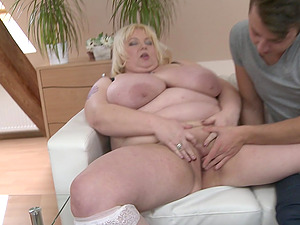 BBW Halina K. gets brutally penetrated by young stud