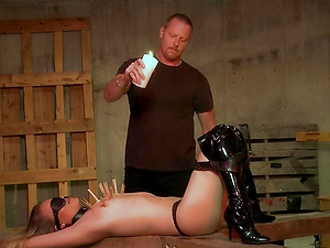 Innocent babe gets forced into choking on a stranger's cock