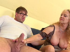 Nothing feels better than granny Beate A. giving a blowjob