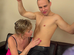 Mature amateur Denica can't wait to ride his throbbing cock