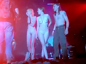 Amateur girls dancing have fun in the club