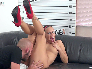 Brunette Mea Melone simply knows how to take care of a cock
